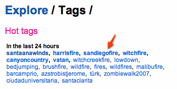 Popular Tags on Flickr Photo Sharing