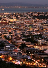 Mission District and Potrero Hill (A Sutanto) Tags: sf sanfrancisco california ca street city longexposure urban usa church night america lights evening bay twilight dusk missiondistrict dolores sfbay coronaheights potrerohill colorphotoaward marketstreet16th