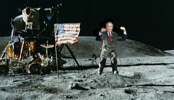 bush on the moon