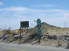 End CA-177 North at CA-62 (sagebrushgis) Tags: california sign shield riversidecounty biggreensign ca62 ca177 californiastatehighway