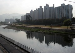 cold concrete everywhere... (aga & jonas) Tags: river haze bloki southkorea daegu blokowiska