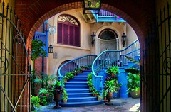 Disneyland (Mine Beyaz) Tags: california blue color stairs disneyland highfive colourful anaheim mavi themepark amateurs renk artisticexpression merdiven renkli amazingtalent 35faves abeauty mywinners theexhibit colorfulcolour superaplus amateurshighfive invitedphotosonly colourartaward excapture minebeyaz stunningphotogpin
