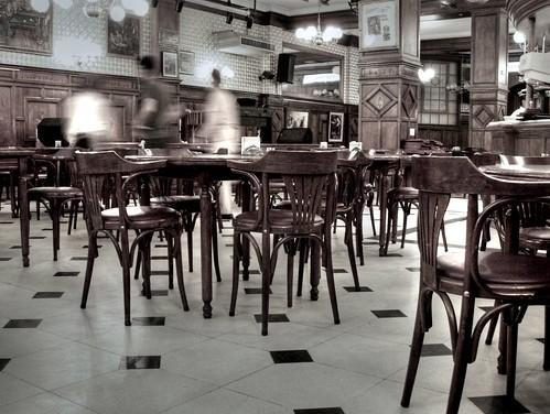 interior de un café