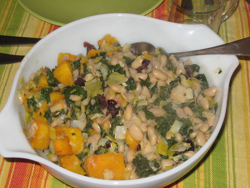 Pumpkin, White Bean and Kale ragout
