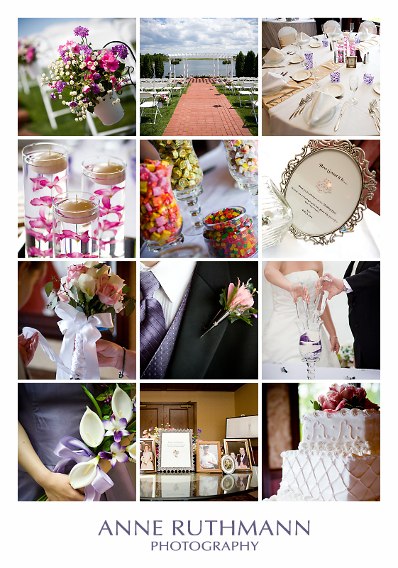 Purple & Pink Wedding Detail Inspiration Board