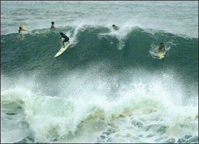 40' waves in Waimea, Hawaii