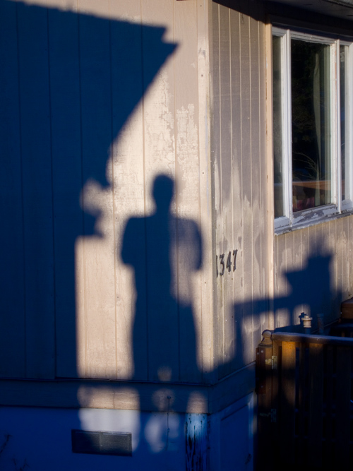 shadow self portrait, Ketchikan, Alaska