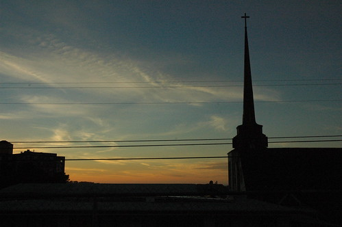 Sunday Sunset Steeple