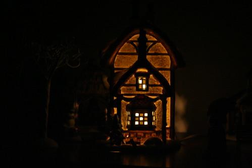 Village Building at Night