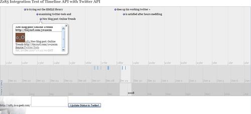 Timeline Twitter Mash up