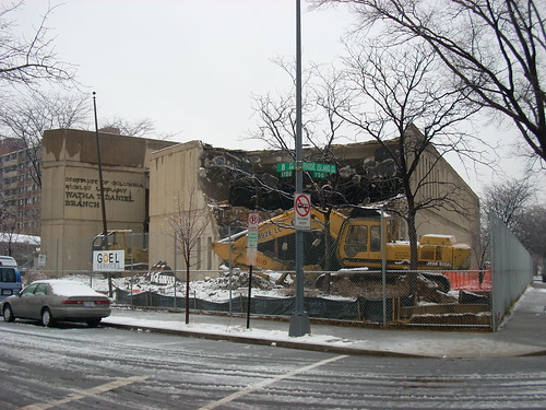 Watha T. Daniel Library Demolition