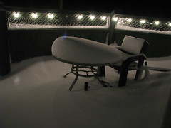 my patio (Jerry Mouland) Tags: winter bw snow canada newfoundland bonavista