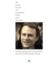 080126(2) - 電影『蝙蝠俠:黑暗騎士』官方網站停止所有宣傳,只為悼念Heath Ledger