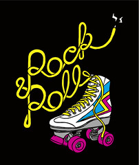Rock & Roll (von_brandis) Tags: electric illustration typography drawing 80s rockroll rollerskate handdrawntypography handtype vonbrandis brandtbotes