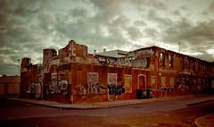 Ruins - Ruínas (babaloud) Tags: portugal architecture clouds graffiti arquitectura nikon ruins dusk tags setúbal nuvens nuvem 1855mmf3556g darkclouds lightroom entardecer ruínas d40 adobelightroom nikonstunninggallery babaloud