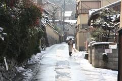 雪景色の京都洛北