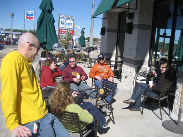 2008 Rocky Raccoon 100 Prerace at Starbucks