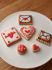 valentines cookies (nikkicookiebaker) Tags: cookies decorated