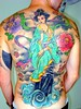 Gueixa, flores-cover up BY EDGE TATTOO