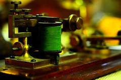 A old telegraph machine