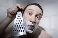 365 - 225 - out of blades (the brownhorse) Tags: selfportrait bathroom shaving shave grater razor bca cheesegrater shavingfoam 365days brownhorse aplusphoto bigcrustyape whatshappeningwithmyeyes