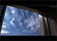 Clouds. (xDrag) Tags: sky window clouds canon outside eos nuvole finestra cielo p dragster cokin nd4 xdrag duepuntozero 400d p153