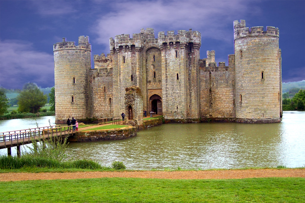 Bodiam Castle, UK. Gorgeous 14th century castle in East Sussex.