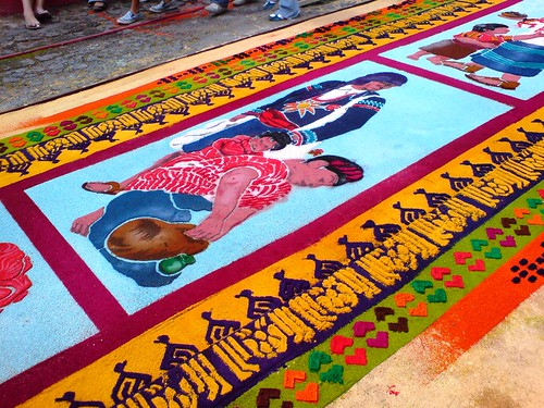 Antigua guatemala alfombras semana santa en el mundo for Antigua alfombras
