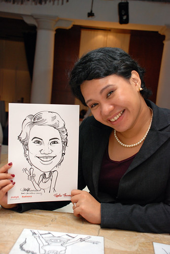 caricature live sketching Singtel Radiance Communications Avaya 15