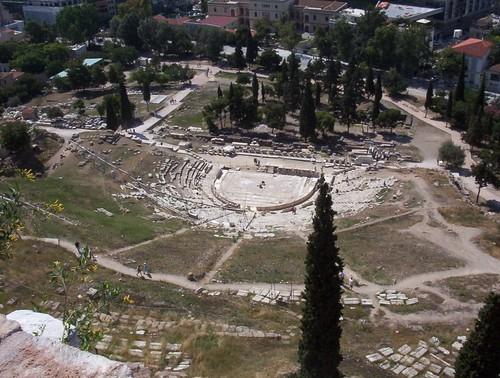 teatro dionisos dionisio acrópolis atenas
