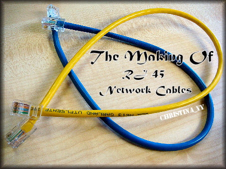 The Making Of RJ 45 Network Cables