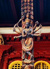 Kwa Bahal, Patan (Golden Temple) (ChihPing) Tags: nepal zeiss temple 645 kodak slide contax patan e100vs goldentemple expiredfilm  contax645     140mm kwabahal     hiranavarnamahavihar