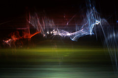 Twilight Dance of the Sprites (Reciprocity) Tags: light abstract color colour film analog 35mm twilight nikon experimental patterns alien plastic refraction analogue lensless sprites caustics photogram diffraction nikomat nikkormat lightart experimentalphotography reciprocity refractograph fujichrome64t lenslessphotography diamondclassphotographer 6jan083 ls46bls15