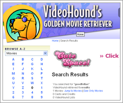 Videohound's Golden Movie Retriver is a cool site