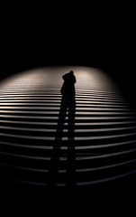 Shadow Stepper (Day 305 Alternate III) (Krelic) Tags: new shadow portrait self mexico theater pentax fisheye spencer ruidoso 1017mm k100d