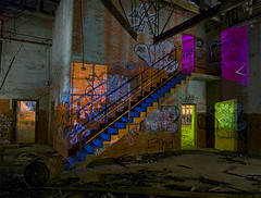 The Texas Blue-Step (Noel Kerns) Tags: urban abandoned night ruins texas fort packing meat worth swift exploration urbex stockyards
