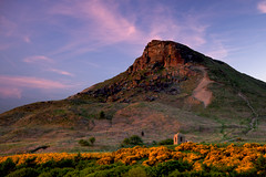 Sunset, Roseberry Topping. (Tall Guy) Tags: uk canon landscape photography photo photos photoshopped yorkshire hill photograph enjoy northyorkmoors roseberrytopping tallguy