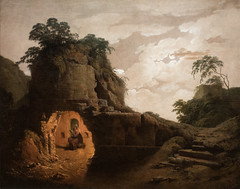 Joseph Wright (Wright of Derby), Virgil's Tomb by Moonlight, with Silius Italicus Declaiming, 1779 (Sharon Mollerus) Tags: metropolitanmuseumofart newyork unitedstates