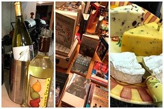 058:365 Wine & Books & Cheese - oh my! (amp'ed) Tags: 365the2017edition 3652017 day58365 27feb17 triptych wine books cheese