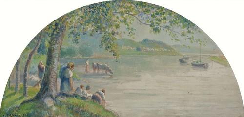 Bords de l'Oise (C Pissarro)