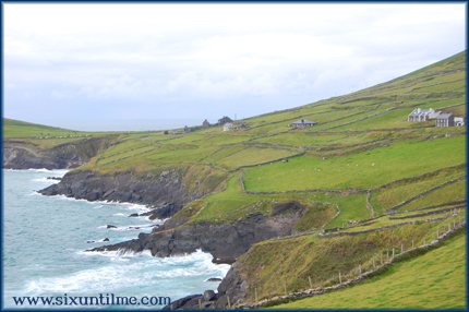 The coastline off the Dingle Peninsula