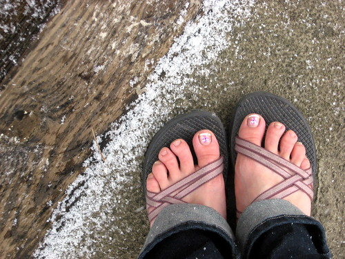 Feet With First Snow