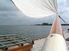 Boom view (tomorrowstand) Tags: wood classic water clouds zeeland deck sail ora et tjalk teak skutsje labora