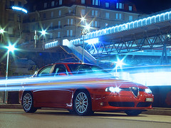 GTA City Lights (Reynoldsorama) Tags: red car italian lausanne alfa romeo gta 156 1car
