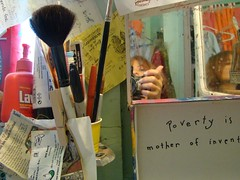 Daily affirmation (mckenzieo) Tags: selfportrait atarmslength armslength artistatwork artstudio pensacolafl personalenvironment specialprojects downtownpensacola mckenzieoerting purplehairedchick mckenzieo purplehairedartist crazysexycancer artistinstudio survived2years cancerbecomesme messyisthenewneat livingwithclutter