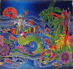 Laurel Burch Mermaid panel