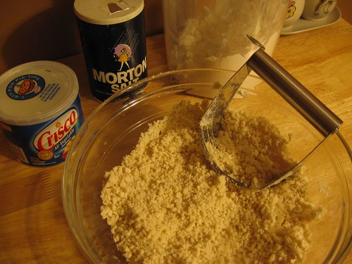 Crumbly Flour, Crisco, Salt mixture