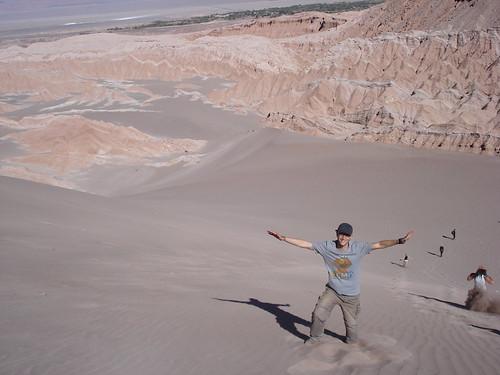 Jugando en las dunas