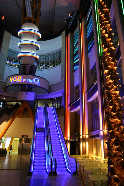 Vue @ the O2 at night, London