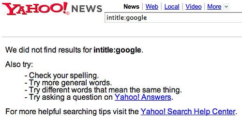 Yahoo News Headline Search Issue